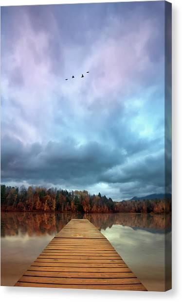 Waterford Canvas Print - Waterbury Reservoir Dock by Lee Sie Photography