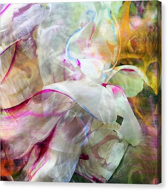 Watercolor Peony Canvas Print