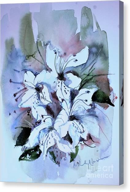 Canvas Print - Watercolor Sketch Of Azaleas by Mindy Newman