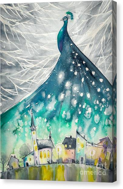 Nature Canvas Print - Watercolors Abstract Illustration Of by Deepgreen