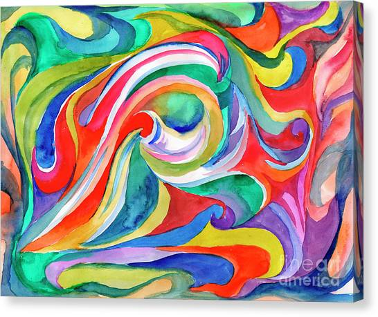 Watercolor's Swirl Canvas Print
