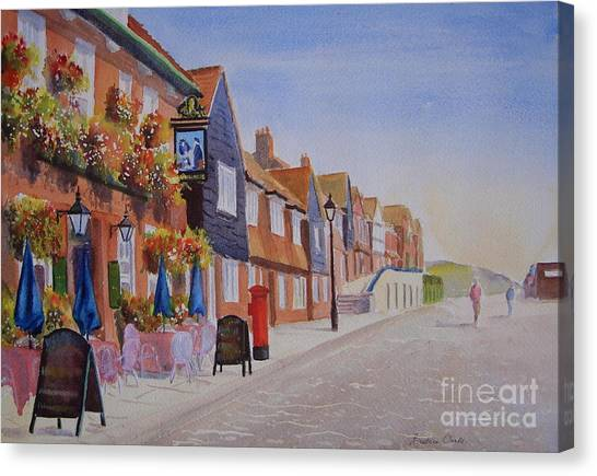 Watercolour Folkestone Harbour Canvas Print