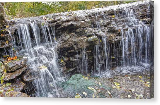 Waterfall @ Sharon Woods Canvas Print