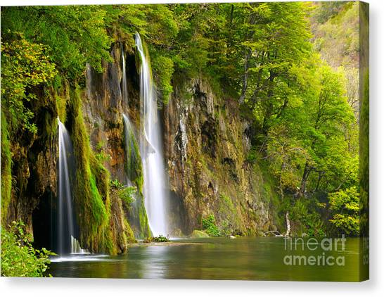 Bush Canvas Print - Waterfall by Sj Travel Photo And Video