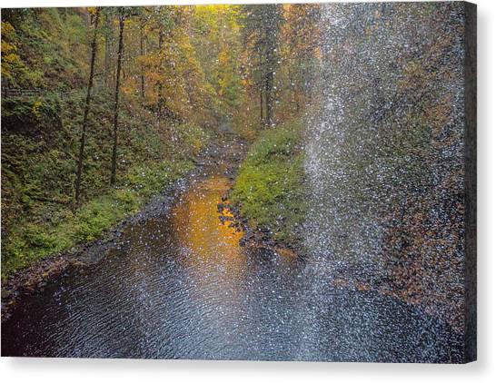 Waterfall Waterdrops Canvas Print