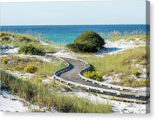Watersound Beach Dune Boardwalk Canvas Print
