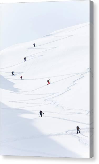 Watzmannkar, Ski Touring Canvas Print