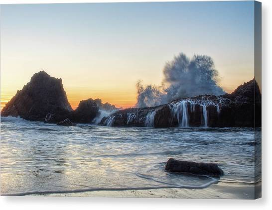Wave Burst Canvas Print