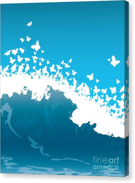 Open Canvas Print - Wave Illustration by Mire
