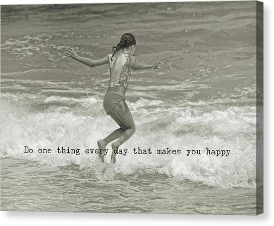 Wave Jump Quote Canvas Print by JAMART Photography