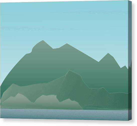 Wave Mountain Canvas Print