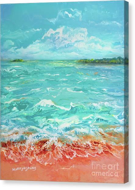 Waves At Sombrero Beach Canvas Print