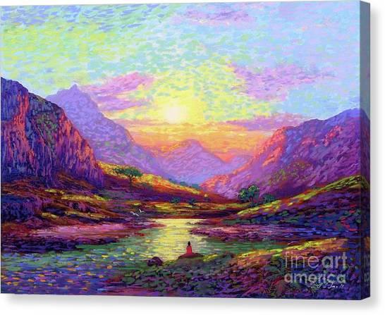 Spiritual Canvas Print - Waves Of Illumination by Jane Small