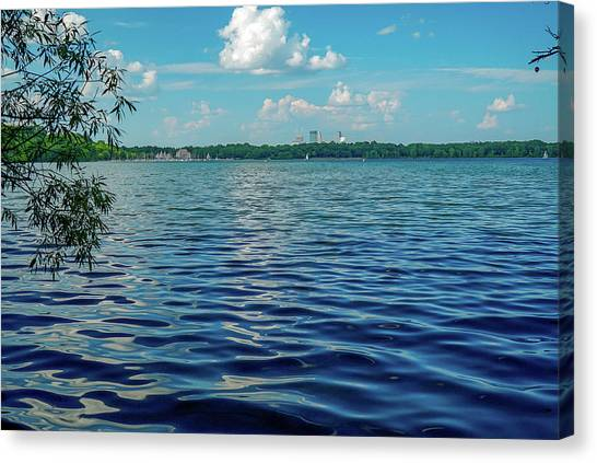 Waves On Lake Harriet Canvas Print