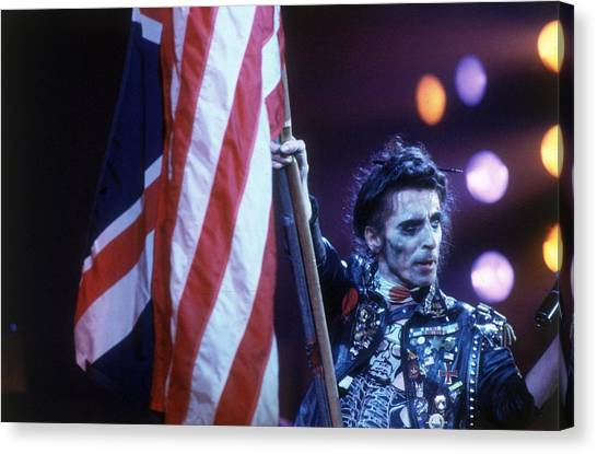 Alice Cooper Canvas Print - Waving The Flag by Keystone