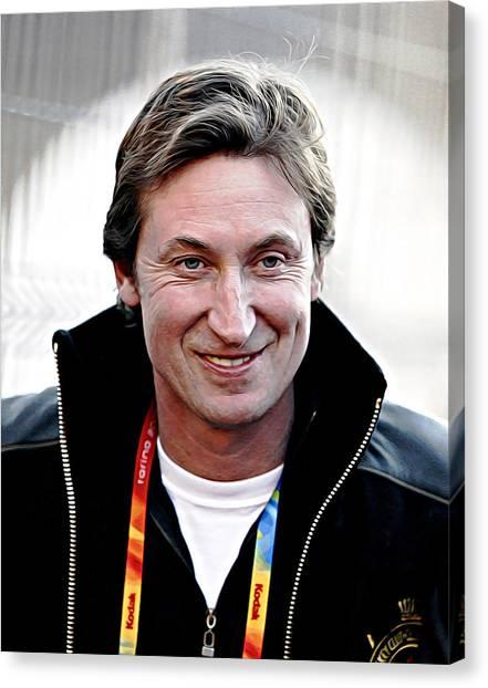 Wayne Gretzky Canvas Print - Wayne Gretzky by Queso Espinosa