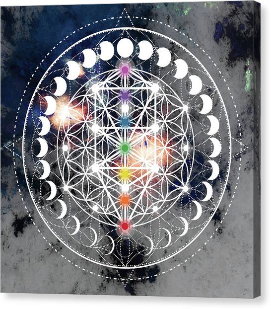 Canvas Print featuring the digital art We Are Beings Of Light by Bee-Bee Deigner