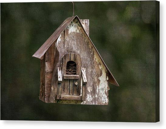 Canvas Print featuring the photograph Weathered Bird House by Dale Kincaid