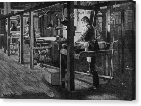 Weaver At Warners Canvas Print by Hulton Archive