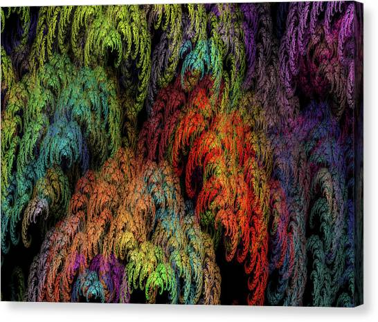 Weeping Willows Canvas Print - Weeping Willow Fractal by Betsy Knapp
