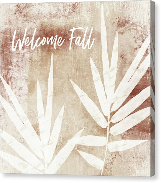 Clay Canvas Print - Welcome Fall Leaf- Art By Linda Woods by Linda Woods