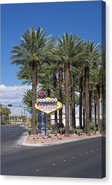 Placard Canvas Print - Welcome To Las Vegas Sign, Las Vegas by Radius Images