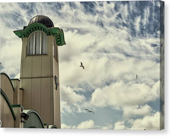 Canvas Print featuring the photograph Wellington Pier Entertainment Centre Tower by Scott Lyons
