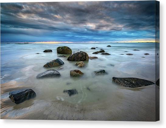 Canvas Print featuring the photograph Wells Beach In Blue by Rick Berk