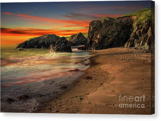 Canvas Print - Welsh Coast Sunset by Adrian Evans