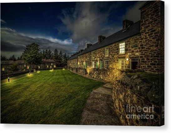 Canvas Print - Welsh Cottages Twilight by Adrian Evans