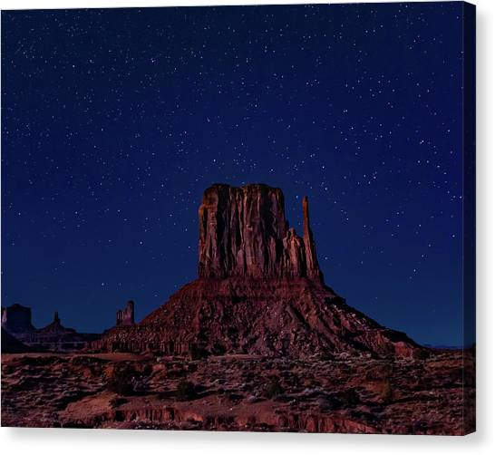 West Mitten Under The Night Sky Canvas Print