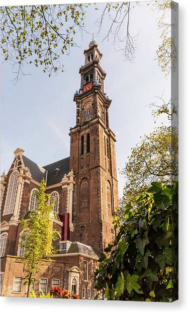Westerkerk In Amsterdam Canvas Print