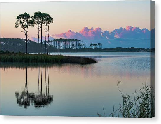 Western Lake Sunrise Canvas Print