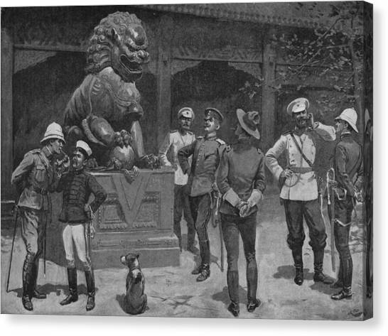Westerners At The Gates Canvas Print by Hulton Archive