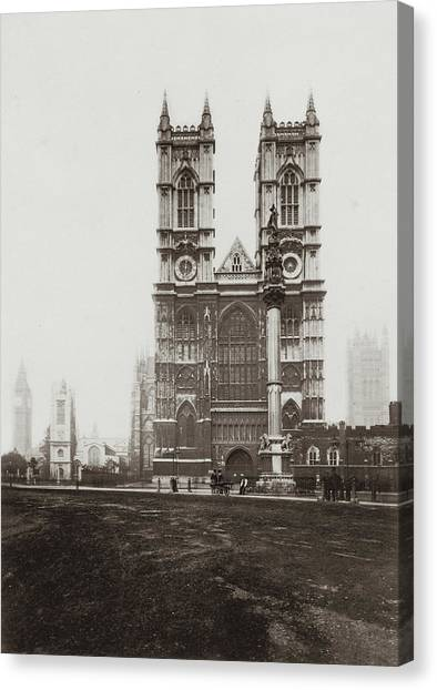 Westminster Abbey Canvas Print by Otto Herschan Collection