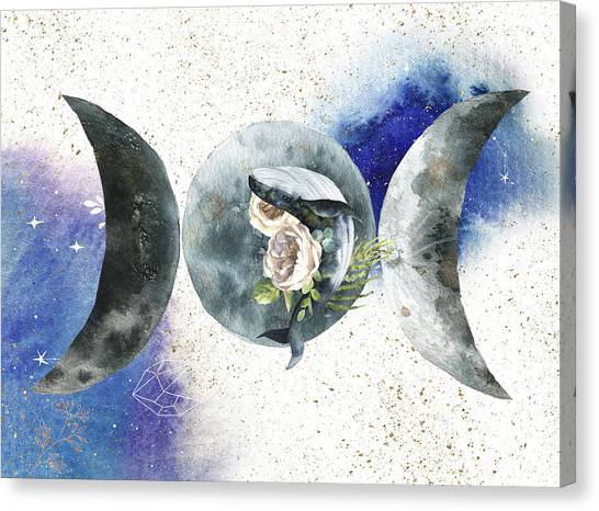 Canvas Print featuring the digital art Whale Goddess by Bee-Bee Deigner