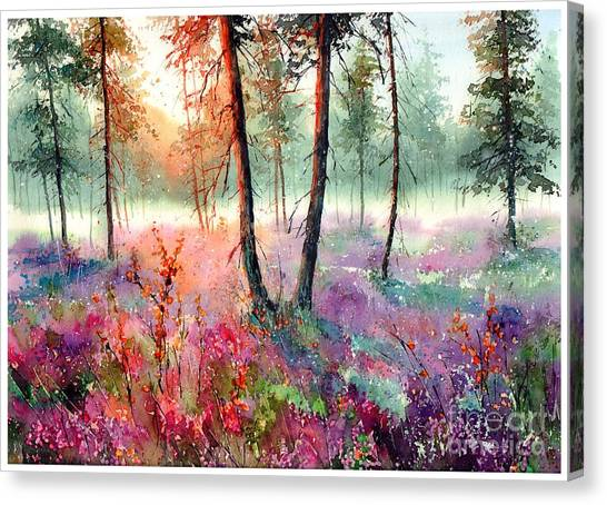 Wild Berries Canvas Print - When Heathers Bloom by Suzann's Art