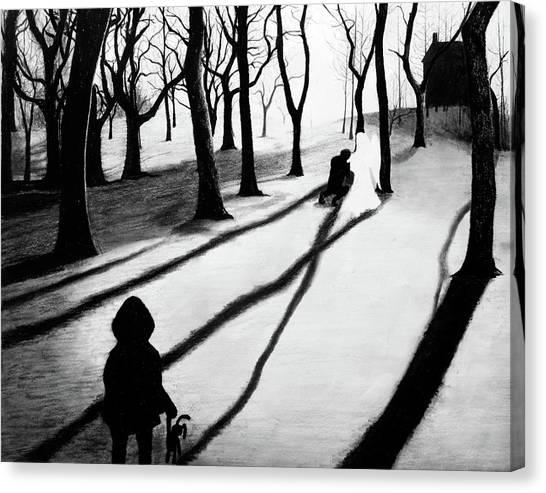 When She Returned... She Saw An Angel - Artwork Canvas Print