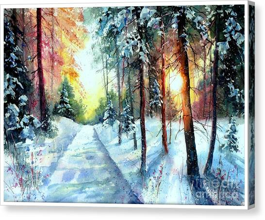3d Canvas Print - When The Sun Goes Down by Suzann Sines