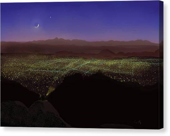 When Tucson's Lights Flicker On Canvas Print