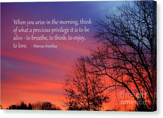 Canvas Print featuring the photograph When You Arise by Patti Whitten