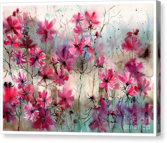 Appalachian Canvas Print - Where Pink Flowers Grew by Suzann Sines