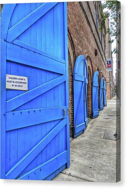 Which Blue Door Canvas Print