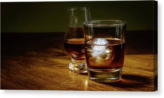 Whisky For Two Canvas Print
