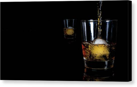 Whisky On Ice For Two Canvas Print