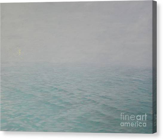 Murky Canvas Print - Whispers In The Mist by Angus Hampel