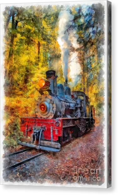Steam Trains Canvas Print - Whistle Through The Forest by Edward Fielding