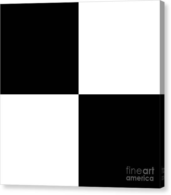 White And Black Squares - Ddh586 Canvas Print