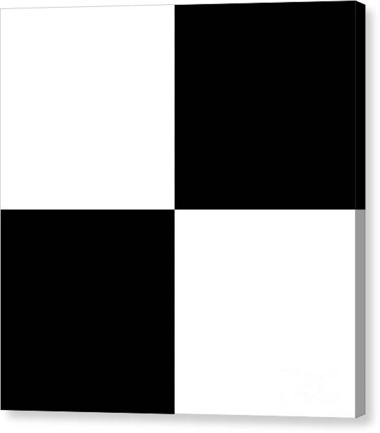White And Black Squares - Ddh588 Canvas Print