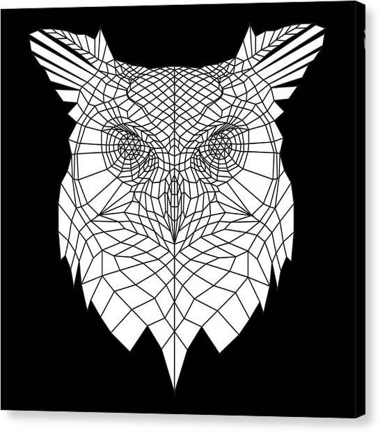 Lynx Canvas Print - White Owl by Naxart Studio
